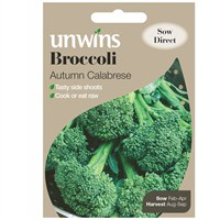 Unwins Seeds Broccoli Autumn Calabrese (30310016) Vegetable Seeds