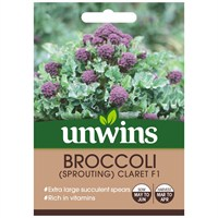 Unwins Seeds Broccoli Claret F1 (30310532)