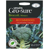Unwins Seeds Broccoli Monaco F1 (Recommended) (30310021) Vegetable Seeds