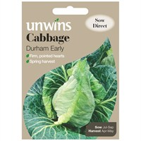 Unwins Seeds Cabbage Durham Early (30310039) Vegetable Seeds