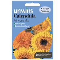 Unwins Seeds Calendula Princess Mix (30210544)