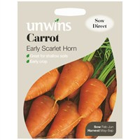 Unwins Seeds Carrot Early Scarlet Horn (30310072)