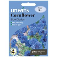 Unwins Seeds Cornflower Blue Diadem (30210546)