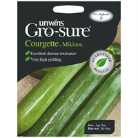 Unwins Seeds Courgette Mikonos F1 (30310099) Vegetable Seeds