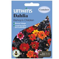 Unwins Seeds Dahlia Bishop's Children (30210549) Flower Seeds