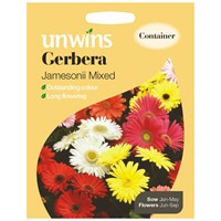 Unwins Seeds Gerbera Jamesonii Mixed (30210293)