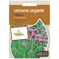 Unwins Seeds Herb Chives (Organic) (30610056)