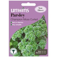Unwins Seeds Herb Parsley Champion Moss Curled (30410021) Vegetable Seeds
