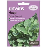 Unwins Seeds Herb Sage Green Leaved (30410026)