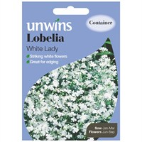 Unwins Seeds Lobelia White Lady (30210122) Flower Seeds