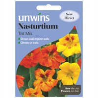 Unwins Seeds Nasturtium Tall Mix (30210142)