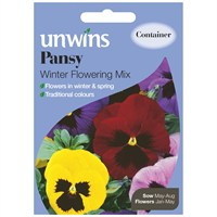 Unwins Seeds Pansy Winter Flowering Mix (30210156)