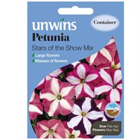 Unwins Seeds Petunia Stars Of The Show Mix (30210577) Flower Seeds