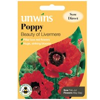 Unwins Seeds Poppy Beauty Of Livermere (30210581)