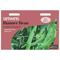 Unwins Seeds Runner Bean Scarlet Emperor (31210045) Vegetable Seeds