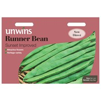 Unwins Seeds Runner Bean Sunset Improved (31210047)