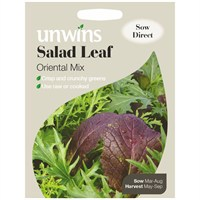 Unwins Seeds Salad Leaf Oriental Mix (30310200) Vegetable Seeds