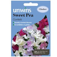 Unwins Seeds Sweet Pea Confetti (30210592) Flower Seeds