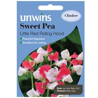 Unwins Seeds Sweet Pea Little Red Riding Hood (30210593)