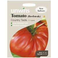 Unwins Seeds Tomato (Beefsteak) Country Taste F1 (30310240) Vegetable Seeds