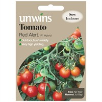 Unwins Seeds Tomato Red Alert F1 (30310249) Vegetable Seeds