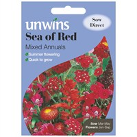 Unwins Seeds Unwins Sea Of Red Mixed Annuals (30210244)