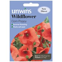 Unwins Seeds Wildflower Corn Poppy (30710002)
