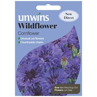 Unwins Seeds Wildflower Cornflower (30710007) Flower Seeds