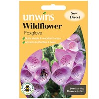 Unwins Seeds Wildflower Foxglove (30710009)