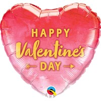 Valentine's Day Gifts - Balloon Foil Design - 'Happy Valentine's Day' Pink Heart Shape (78539)