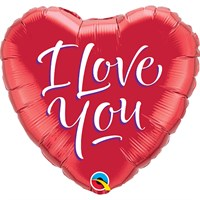 Valentine's Day Gifts - Balloon Foil Design - 'I Love You' Red Heart Shape (29133)