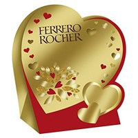Valentine's Day Gifts - Chocolates Ferrero Rocher Heart Box 50g