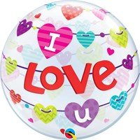 Valentine's Day Gifts - Balloon Bubble Design - 'I Love You' Hearts (46047)