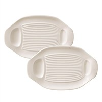 Villeroy & Boch BBQ Passion White BBQ/Grilled Vegetable Plates (Set of 2) (1041897527)