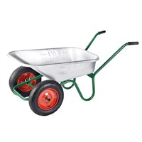 Walsall Wheelbarrow Co - Galvanised Windsor Twin Wheelbarrow - 90L (WINGVTWINP)