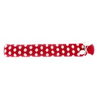 Warmies Extra Long Hot Water Bottle - Red Spots Knit (BOT-RED-2)