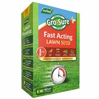 Gro-Sure Fast Acting Grass Lawn Seed - 80 sq.m - 2.4kg (20500179)