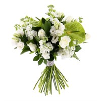 White Handtied Bouquet - Classic