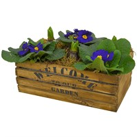 Wooden Crate Mixed Planter - Large