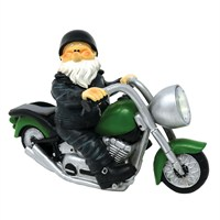 Woodland Wilf Born To Be Wild Garden Gnome with Solar Light (B9446)