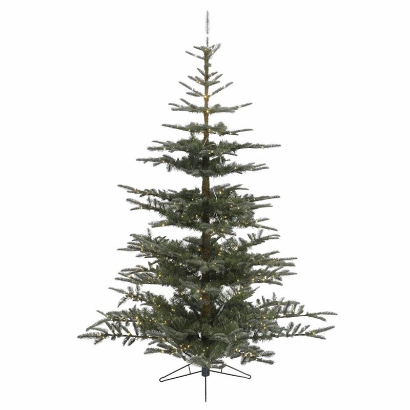Kaemingk 210cm (7ft) Nobilis Fir Pre Lit Artificial Christmas Tree ...