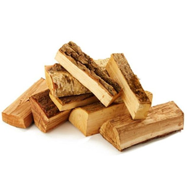 Sack of hardwood logs