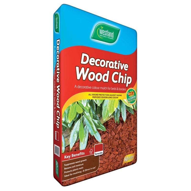 Decorative Wood Chips ~ Westland decorative wood chips terracotta l