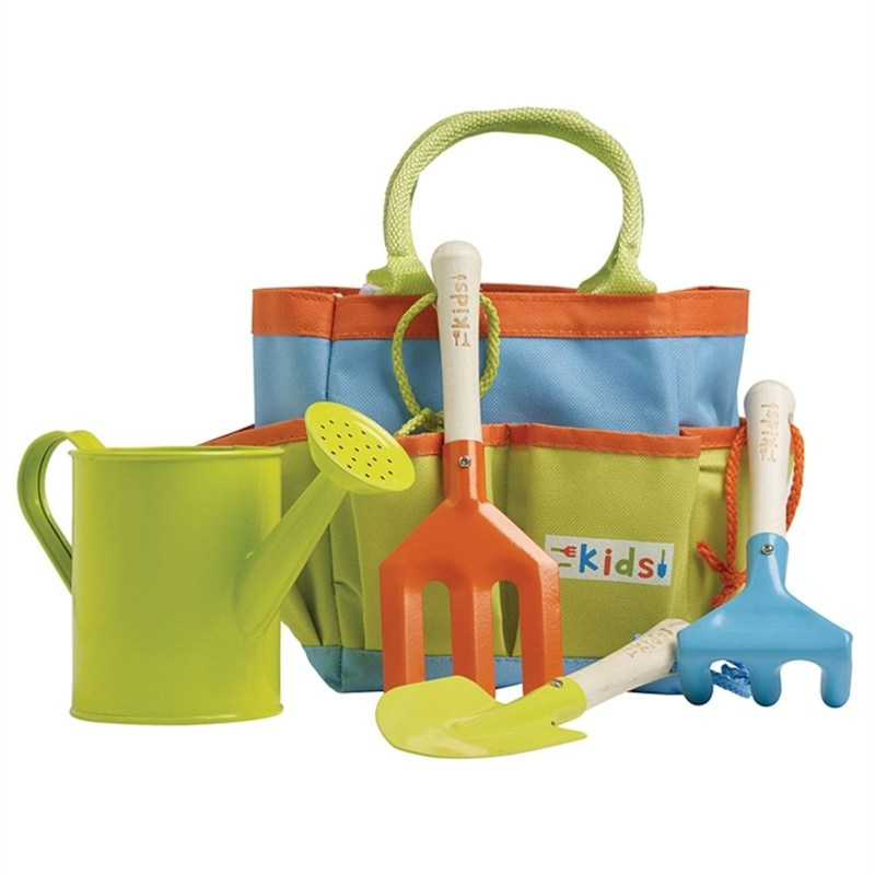 Briers kids garden tool bag set with 3 tools watering for Gardening tools toddlers