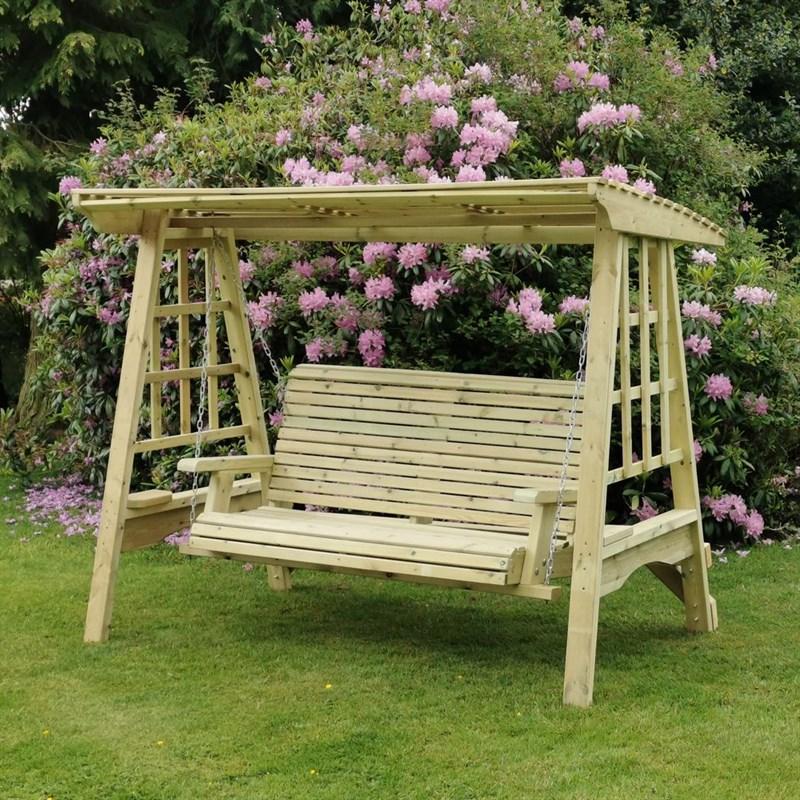 Churnet Valley Antoinette Wooden Garden Swing Seat Sw102