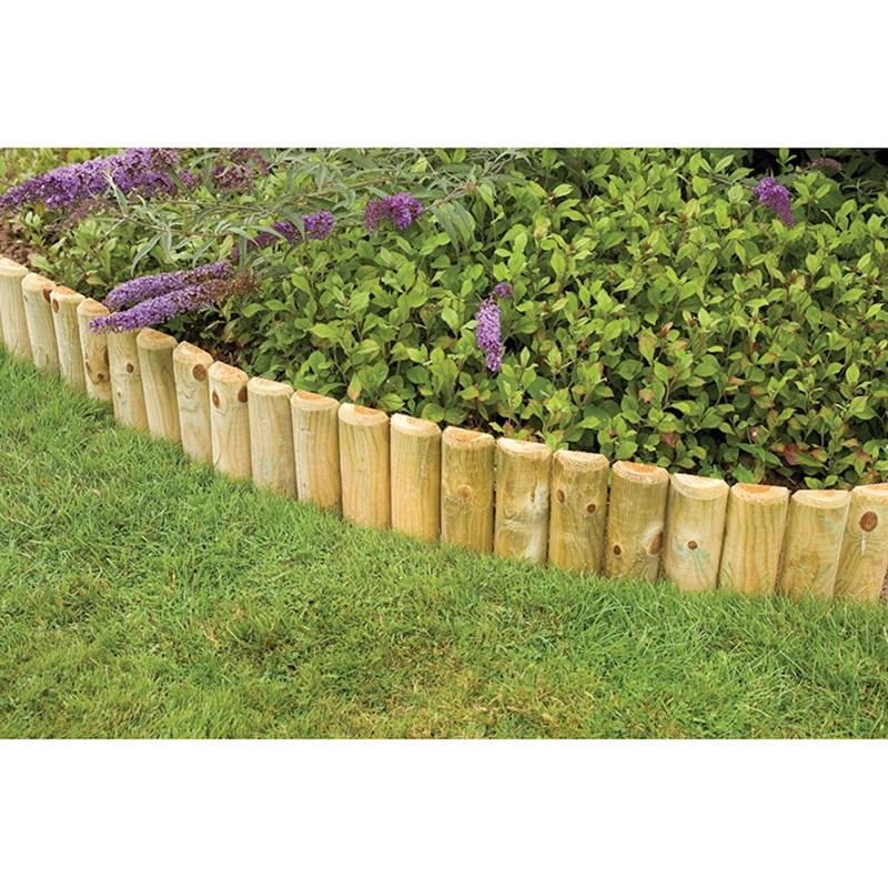 Forest Garden Wooden Log Roll Border 6 Inches Rlr06