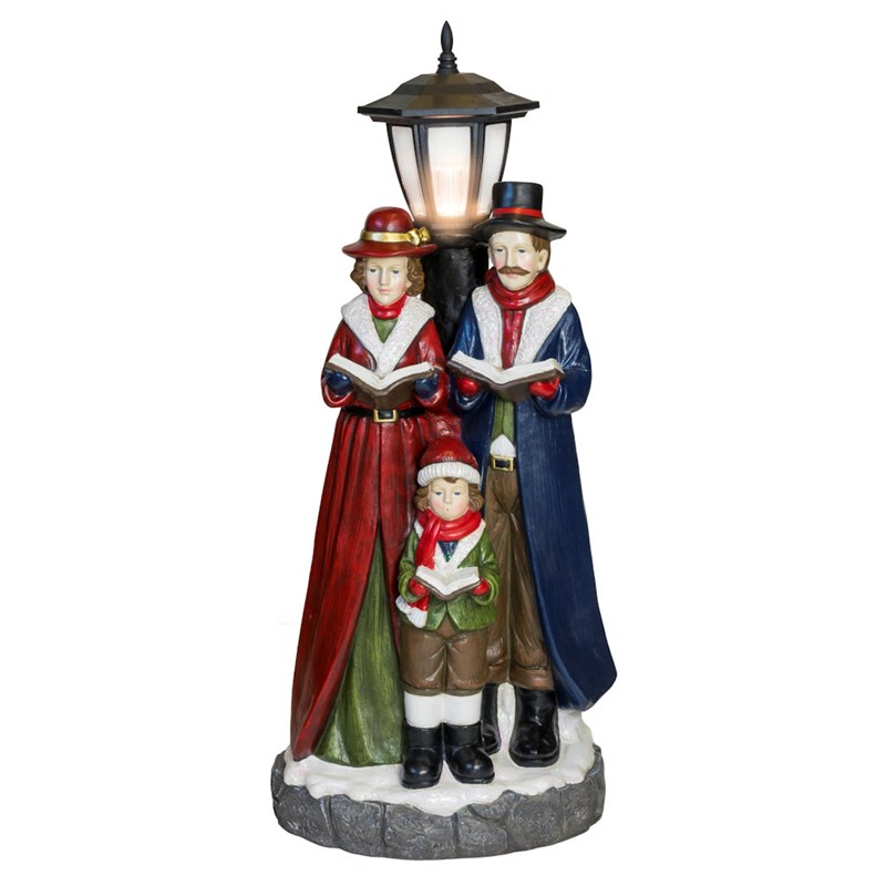 Christmas Carol Singers Ornaments.Fountasia Christmas Carol Singers Street Light Led Decoration Statue 78073