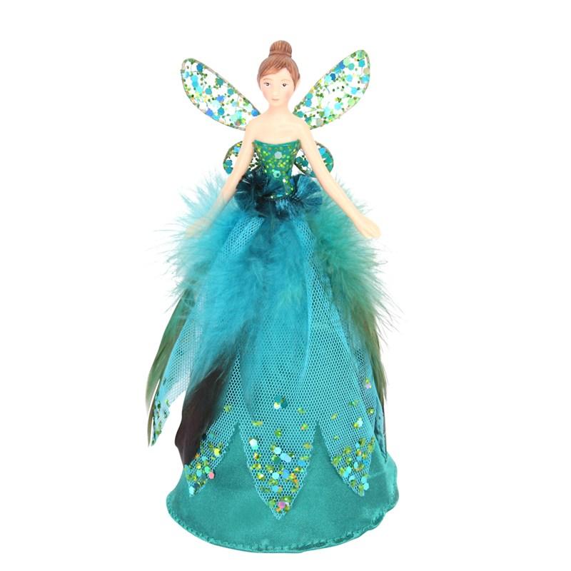 size 40 82cf4 8fe42 Gisela Graham Christmas Resin & Peacock Feather Fairy Tree Topper (31494)