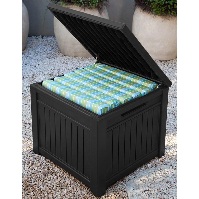 sc 1 st  Longacres & Keter Cube Wood-Look 208L Garden Storage Box - Anthracite (17199851)