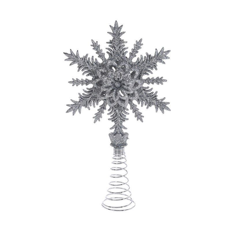 Christmas Tree Topper.Koopman Glittery Silver Christmas Tree Topper Design 4 Awr103130